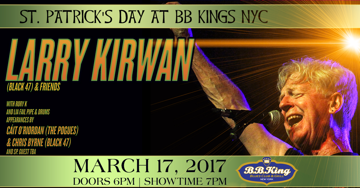 Larry Kirwan at B. B. Kings